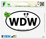 Walt Disney World Travel Oval Vinyl Car Bumper Window Sticker 5 x 3