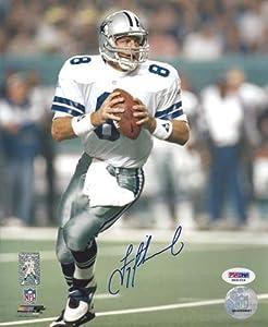 Troy Aikman Autographed Dallas Cowboys 8x10 Photo in Blue PSA DNA