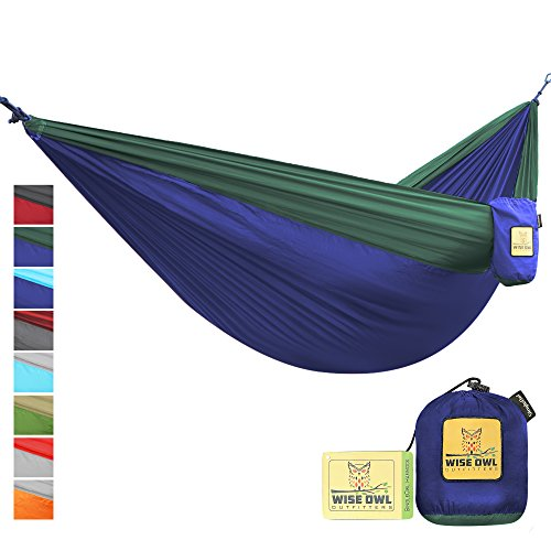 The Ultimate Single & Double Camping Hammocks- The Best Quality Camp Gear For Backpacking Camping Survival & Travel- Portable Lightweight Parachute Nylon Ropes and Carabiners Included! SONBFG