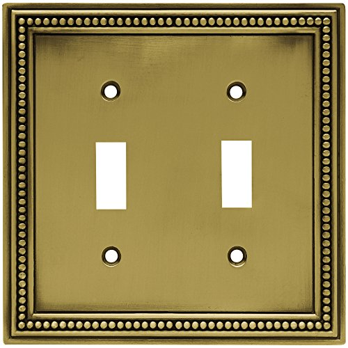 brainerd 64771 beaded double toggle switch wall plate switch plate. Black Bedroom Furniture Sets. Home Design Ideas
