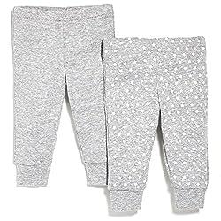 SkipHop Unisex-Baby Starry Chevron Pants Set, Grey, 6 Months