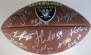 2013 Oakland Raiders, Team, Signed, Autographed, NFL Logo, Football, a COA and the... by Coast to Coast Collectibles