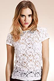 Limited Collection Peter Pan Collar Floral Lace Top