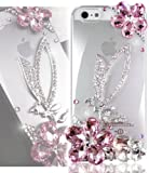 TEAM LUXURY® Feminine Series Bling Swarovski Crystal PINK ANGEL Case Cover for Iphone 5 5S 5G 5th Generation (100% Handcrafted by TEAM LUXURY® in USA)