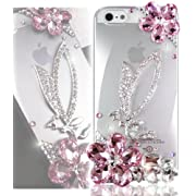 Bling Swarovski Crystal PINK ANGEL CaseIphone 5 5S 5G 5th Generation