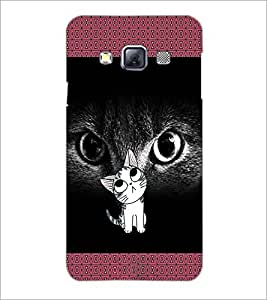 PrintDhaba Kitty D-2468 Back Case Cover for SAMSUNG GALAXY A3 (Multi-Coloured)