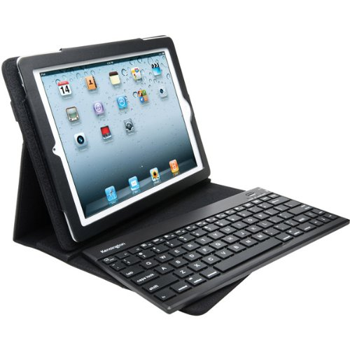 Trade mark New Kensington Black Keyfolio Pro 2 Removable Bluetooth Keyboard Case/Stand For Ipad