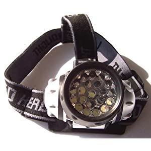 Pathfinder 21 LED Headlamp Headlight - Waterproof. 4 Modes Of Operation, Head Safety, Lamp, Flash Light, Torch For Cycling, Climbing, Mountain Biking, Camping, Night Reading. Adjustable Beam Angle. 100,000 Hours LED lifetime (in RETAIL PACKAGING)