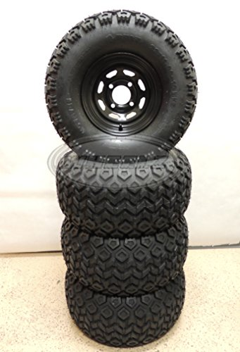 Set Of 4 22x11 10 Rhox Mojave Golf Cart Tires Mounted On Black 10x7 Steel Wheels W Centercaps Lugnuts Review Lukedsasinds