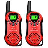 Walkie Talkies, 22 Channel Child Walkie Talkies 2 Way Radio 3 Miles (Up to 5Miles) UHF Handheld Walkie Talkie for Kids (Pair) (Red)