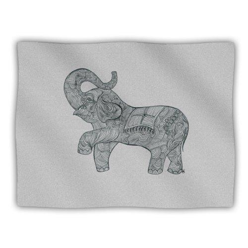 "Kess Inhouse Belinda Gillies ""Elephant"" Pet Blanket, 40 By 30-Inch front-41483"