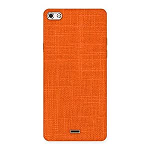 Orange Texture Squary Back Case Cover for Micromax Canvas Silver 5