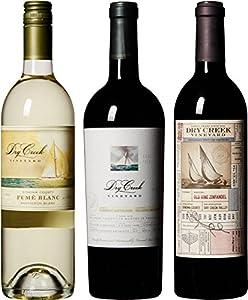 Dry Creek Vineyard Signature Red & White Wines 3-Pack Wine Mixed Pack III, 3 x 750 mL