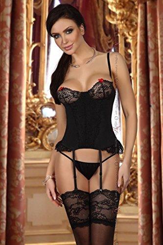 Beauty Night Fashion Damen Straps Set Shirley BN10341 schwarz