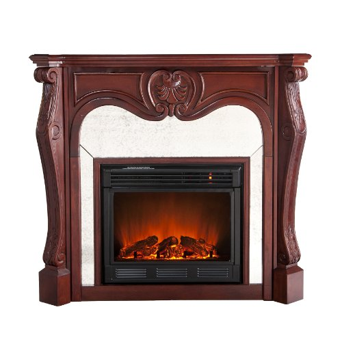 SEI Belmont Electric Fireplace, Cherry photo B005KFI8CC.jpg