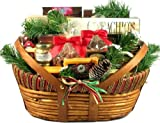 Holiday Meat and Cheese Gift Basket (Large) - Christmas Gift Basket by Gift Basket Village