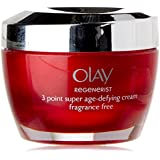 Olay Regenerist 3 Point Treatment Moisturiser Cream Fragrance Free -, 50ml (Packaging may vary)