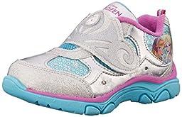 Disney Frozen Crown Sneaker (Toddler/Little Kid), Blue/Silver, 11 M US Little Kid