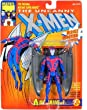 "Marvel The Uncanny X-Men ARCHANGEL (Gray Wings) 5"" Action Figure (1993 ToyBiz)"
