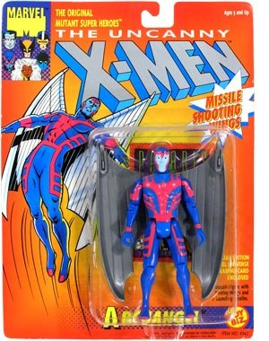 "Marvel The Uncanny X-Men ARCHANGEL (Gray Wings) 5"" Action Figure (1993 ToyBiz) - 1"