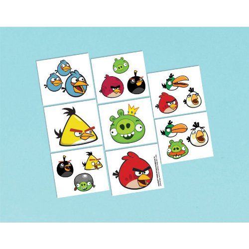 Angry Birds Tattoos 16ct - 1