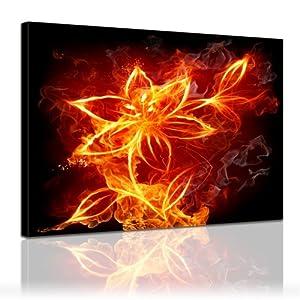 Bilderdepot24 Immagine su telaio a cunei Fiore di fuoco 40x30cm  Già montato sul telaio, stampa su tela di cotone 100%,    recensioni dei clienti