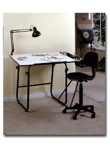 Studio Designs 4 Piece Creativity Center 30 in. x 40 in. top black/white 4-piece creativity center