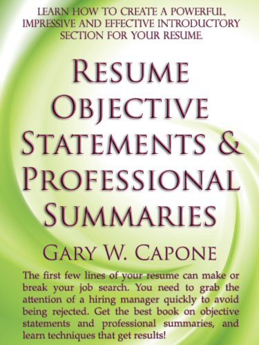 career objective for resume for fresher