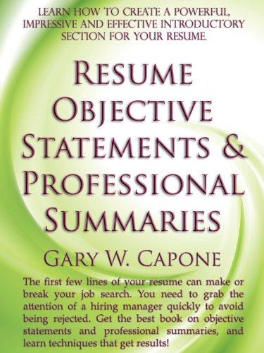 career objective for resume for fresher