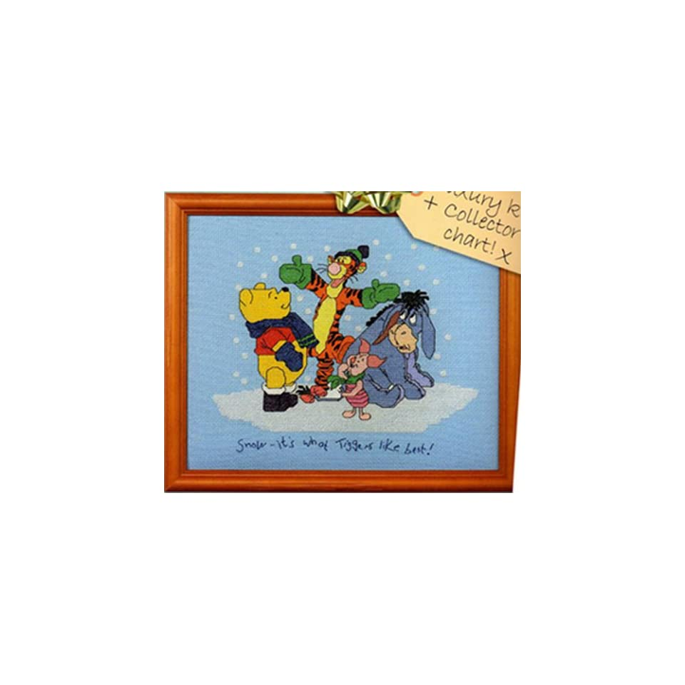 Counted Cross Stitch Kit Winnie the Pooh Snowing Christmas