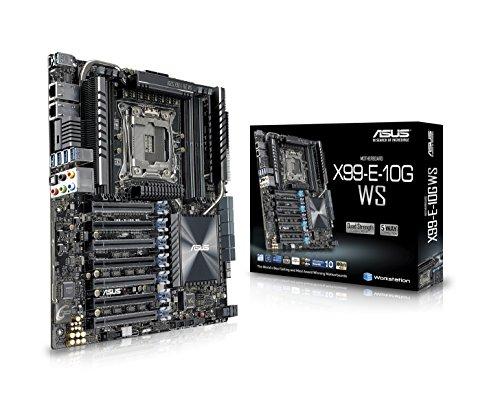 ASUS LGA2011-v3 Dual 10G LAN 4-Way GPU ATX/CEB Motherboard (X99-E-10G WS)