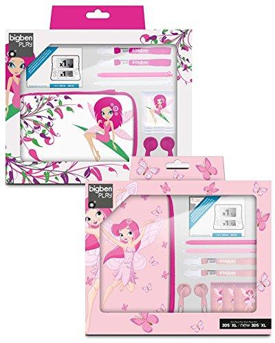Nintendo 3DS XL   3DS   DSi XL - Zubehör-Set Fairies XL  Farblich sortiert