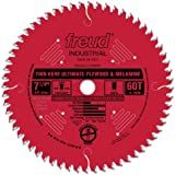 Freud LU79R007 Perma-Shield Coated Ultimate Plywood and Melamine Saw Blade, 5/8-Inch Arbor 7-1/4-Inch by 60t Hi-ATB 38-Degree