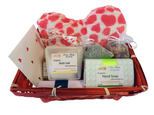 I Love You Valentine's Day Deluxe Organic Gift Basket