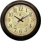 "Geneva 14"" Plastic Decorative Wall Clock, Brown"