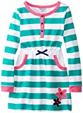 Hartstrings Big Girls' Striped French Terry Dress