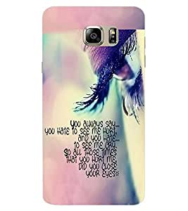 ColourCraft Quote with Image Design Back Case Cover for SAMSUNG GALAXY NOTE 7