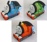 Set Of 3 - 22cm Thomas The Tank Engine Soft Toys - Thomas, James And Percy (PL86SET)