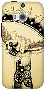 The Racoon Lean Rise of the Machines hard plastic printed back case / cover for HTC One (M8)