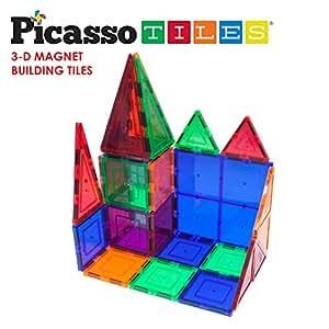Amazon Com Picassotiles 100 Piece Set Magnet Building