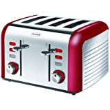 Breville Opula Collection VTT332 Stainless Steel 4 Slice Toaster - Carnelian Red