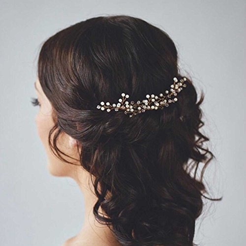 Venusvi Bridal Silvery Wedding Hair Pins for Women and Girls (Pack of 3)