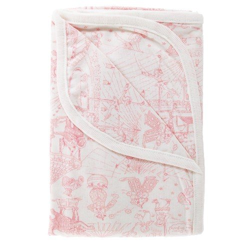 Amy Coe Limited Edition Pink Circus Toile Baby Blanket - 1