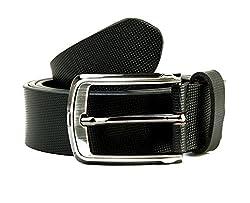 SCHARF Black Men's Leather Belt
