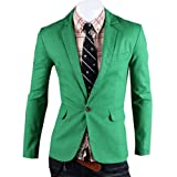 Mens Slim Fit One Button Outerwear