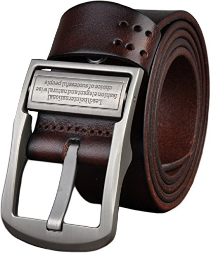 Attol® 100% genuine Leather Belt Mens Vintage Jeans Belt Brown 105cm