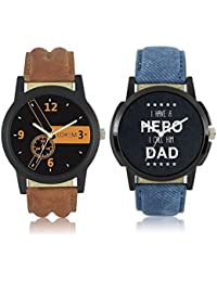 OpenDeal LOREM Stylish Dummy Chronograph Analog Watch - For Men & Boys Pack Of 2 OD-W223