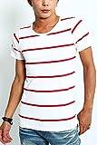 インプローブス imp 半袖 ボーダー Tシャツ A ホワイト × レッド L