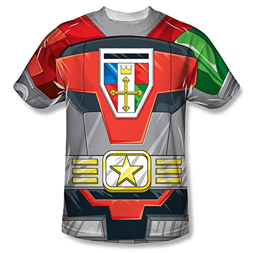 Voltron:Defender of the Universe TV Show Robot Costume Adult Front Print T-Shirt