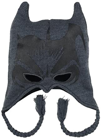 DC Comics Men's Batman Mask Peruvian with Ears, Charcoal, One Size